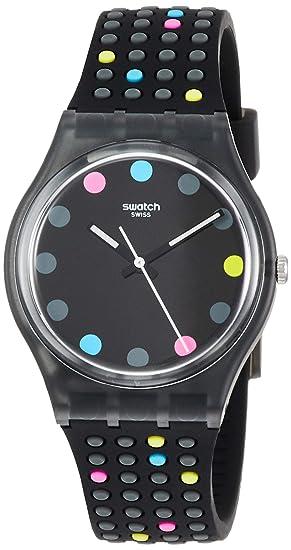 Swatch Reloj Analógico para Mujer de Cuarzo con Correa en Silicona GB305: Amazon.es: Relojes