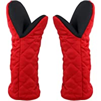 Siliconen Ovenhandschoenen Lange, Dubbele Ovenwanten Hittebestendige Bakhandschoenen Antislip Oven Handschoenen voor…