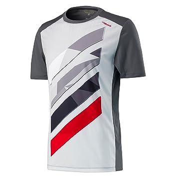 Head Camiseta de Rayas, ntilde;o, Niños, Color Antracita, tamaño S: Amazon.es: Deportes y aire libre