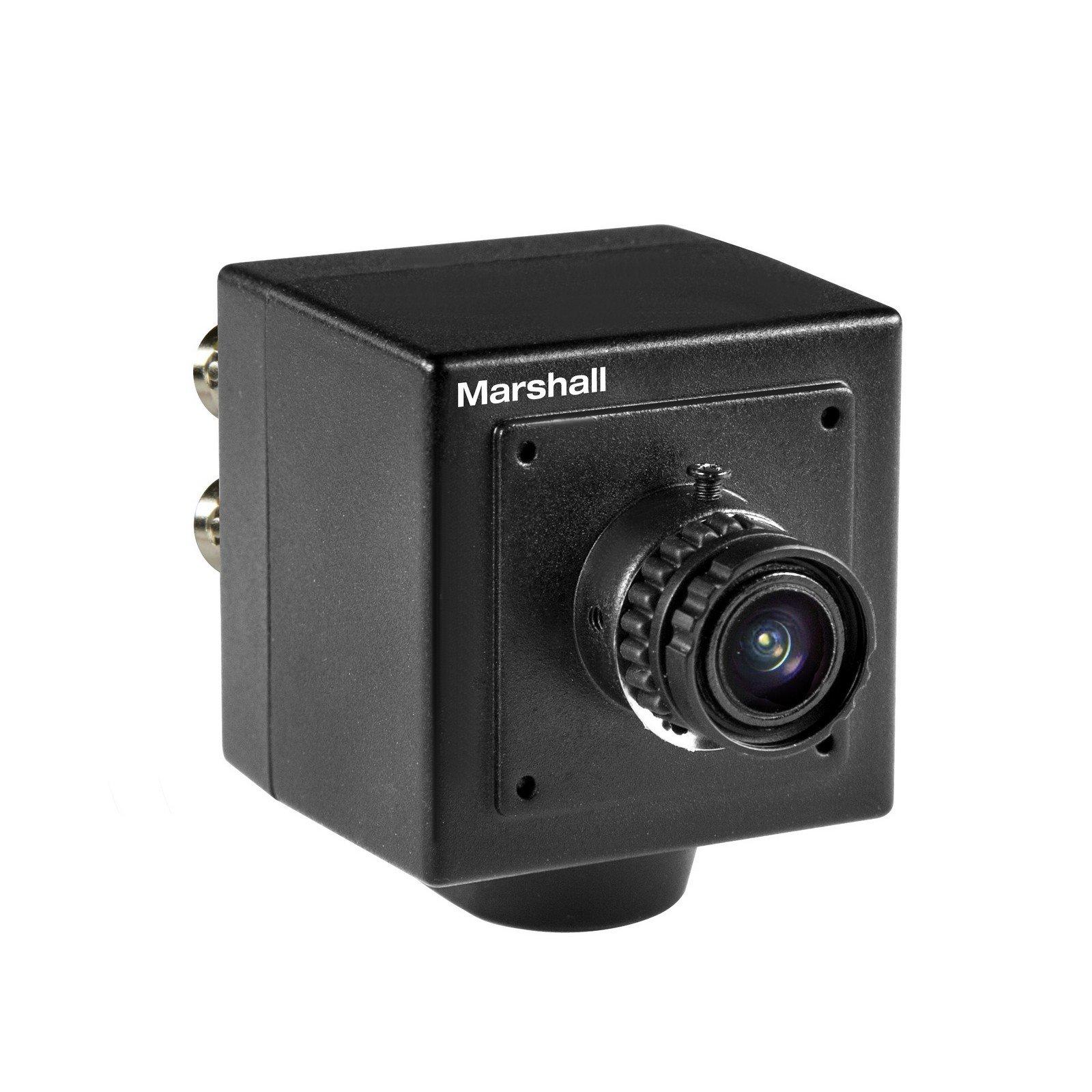 Marshall Electronics CV502-MB | Interchangeable 3.7mm Lens HD 3G SDI 1080p 59 FPS Compact Broadcast Camera