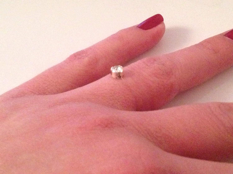 Bague fil nylon petit strass brillant swarovski cristal solitaire sur fil de nylon transparent, mariage, soiré e soirée
