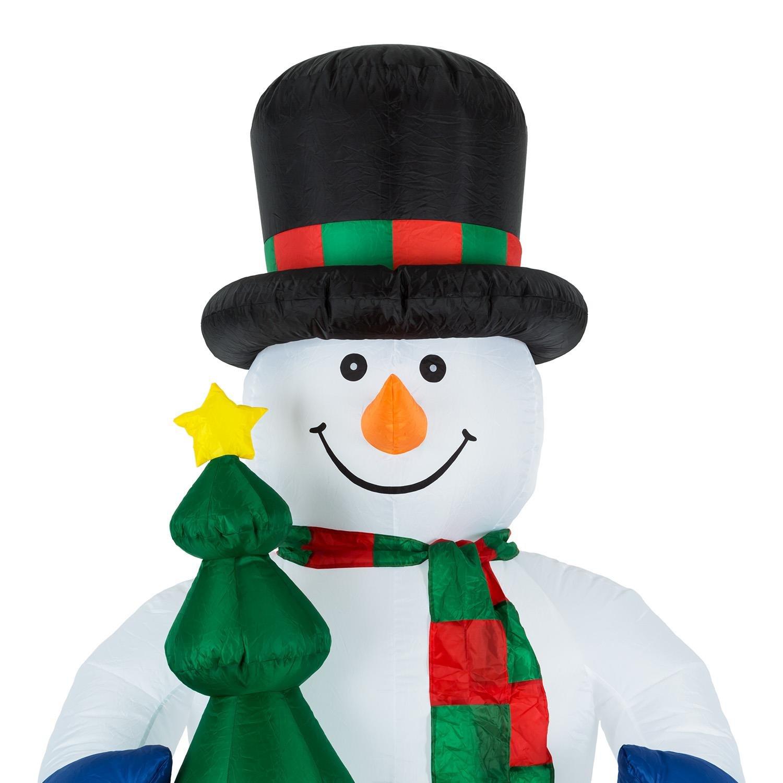 Weihnachtsbeleuchtung Schneemann Außen.Oneconcept Mr Frost Schneemann Weihnachtsdekoration