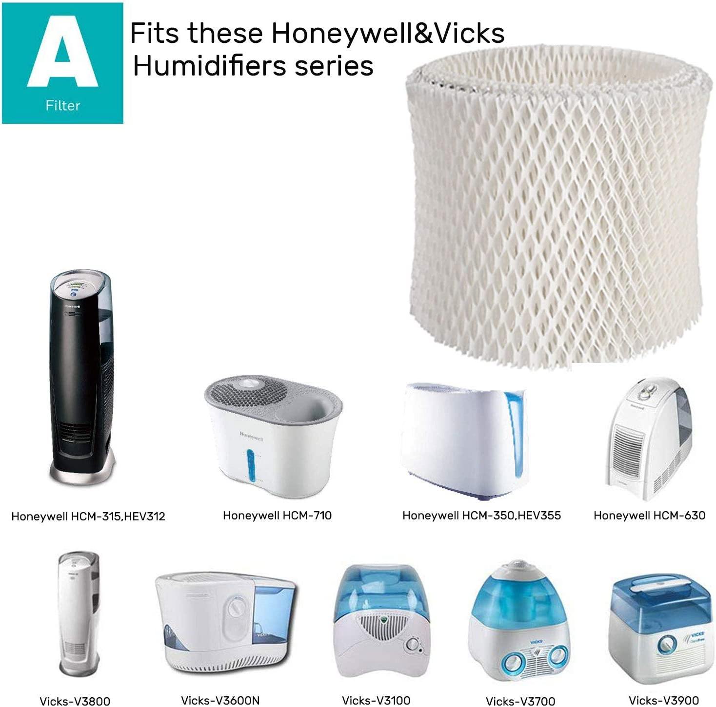 Quality Replacement Humidifier Filter For Honeywell Vicks&Kaz HCM 350 Series HOT