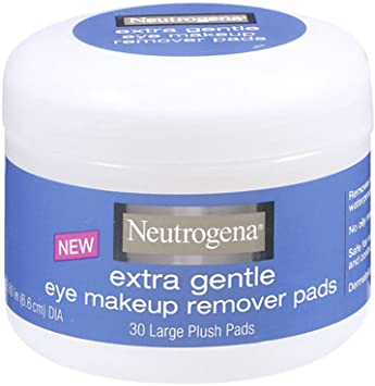 Amazon.com : Neutrogena Extra Gentle Eye Makeup Remover Pads, Sensitive Skin 30 Count (Pack of 2) : Facial Wipes Makeup Remover : Beauty