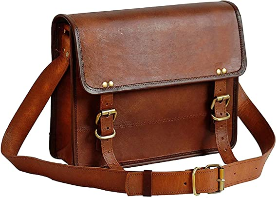 Bolsa de cuero de 30 y 35 cm para hombre, bandolera de piel