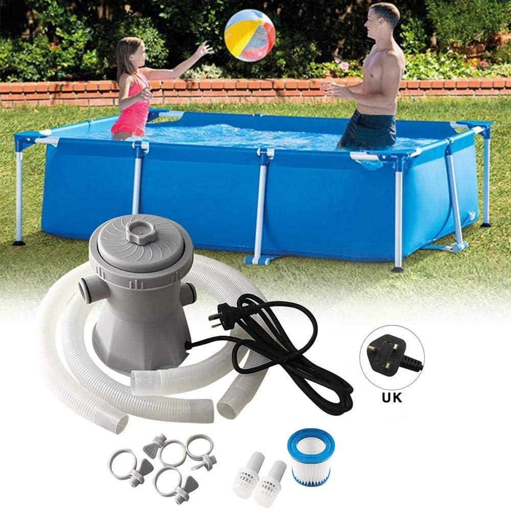 Azonesyeo - Juego de bomba y filtro de piscina, depuradora para piscina, bomba de circulación, filtro para estanques y piscinas (1136 litros por hora): Amazon.es: Jardín