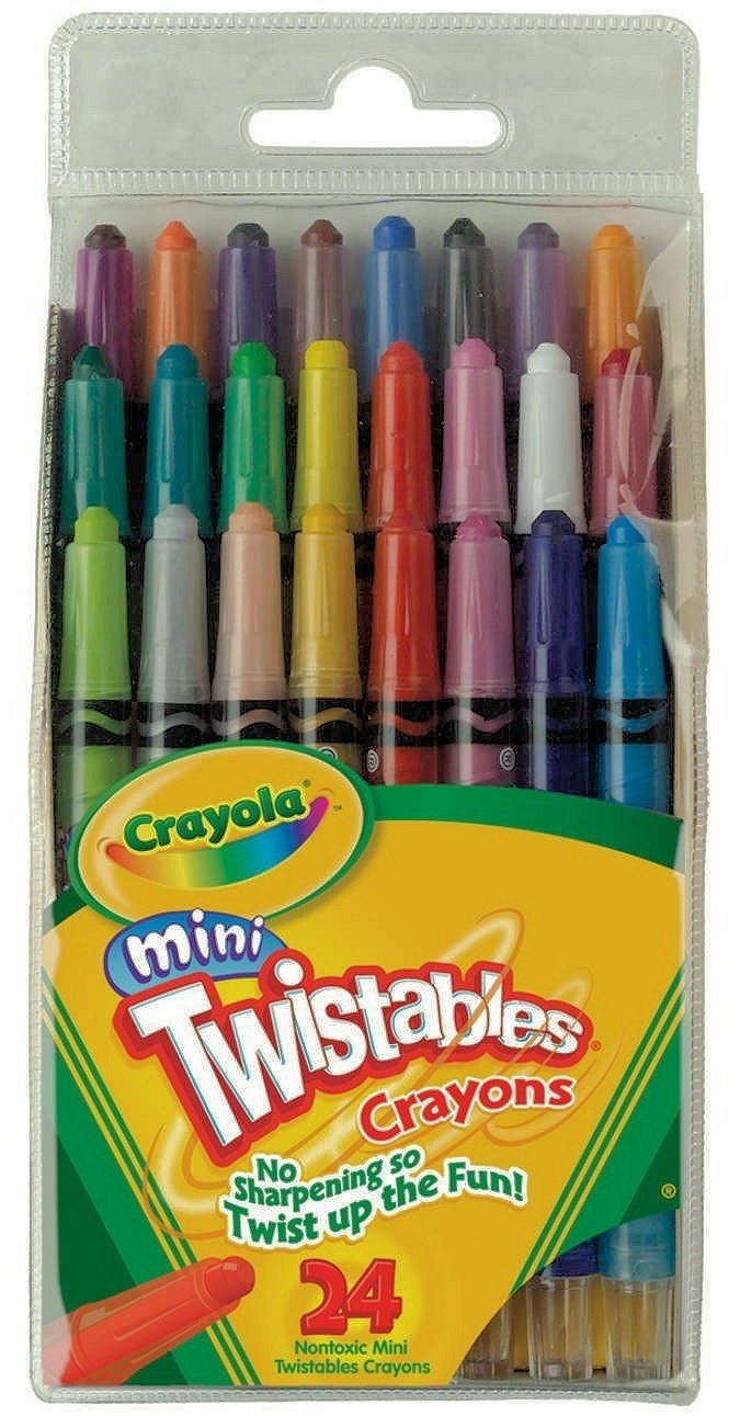 Crayola Mini Twistable Crayons 24 in a Box (Pack of 3) 72 Crayons in Total