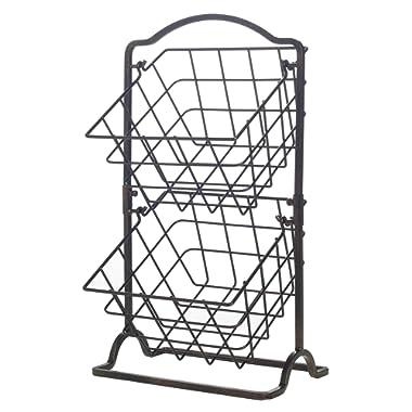 Pfaltzgraff Basics 5228888 Awarda Carbon Steel Kitchen Utensil Holder Crock, 7-Inch, Satin Nickel