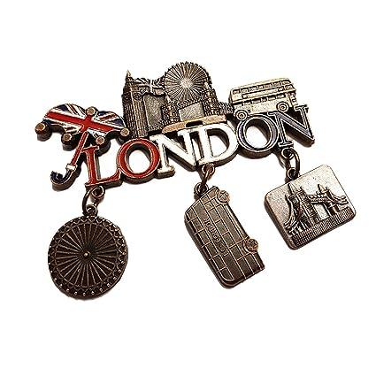 Londres palabra todo metal con imán, diseño de Union Jack paraguas, Bus, Big