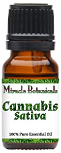 Miracle Botanicals Cannabis Sativa Essential Oil - 100% Pure Cannabis Sativa - 10ml or 30ml Sizes - Therapeutic Grade - 10ml
