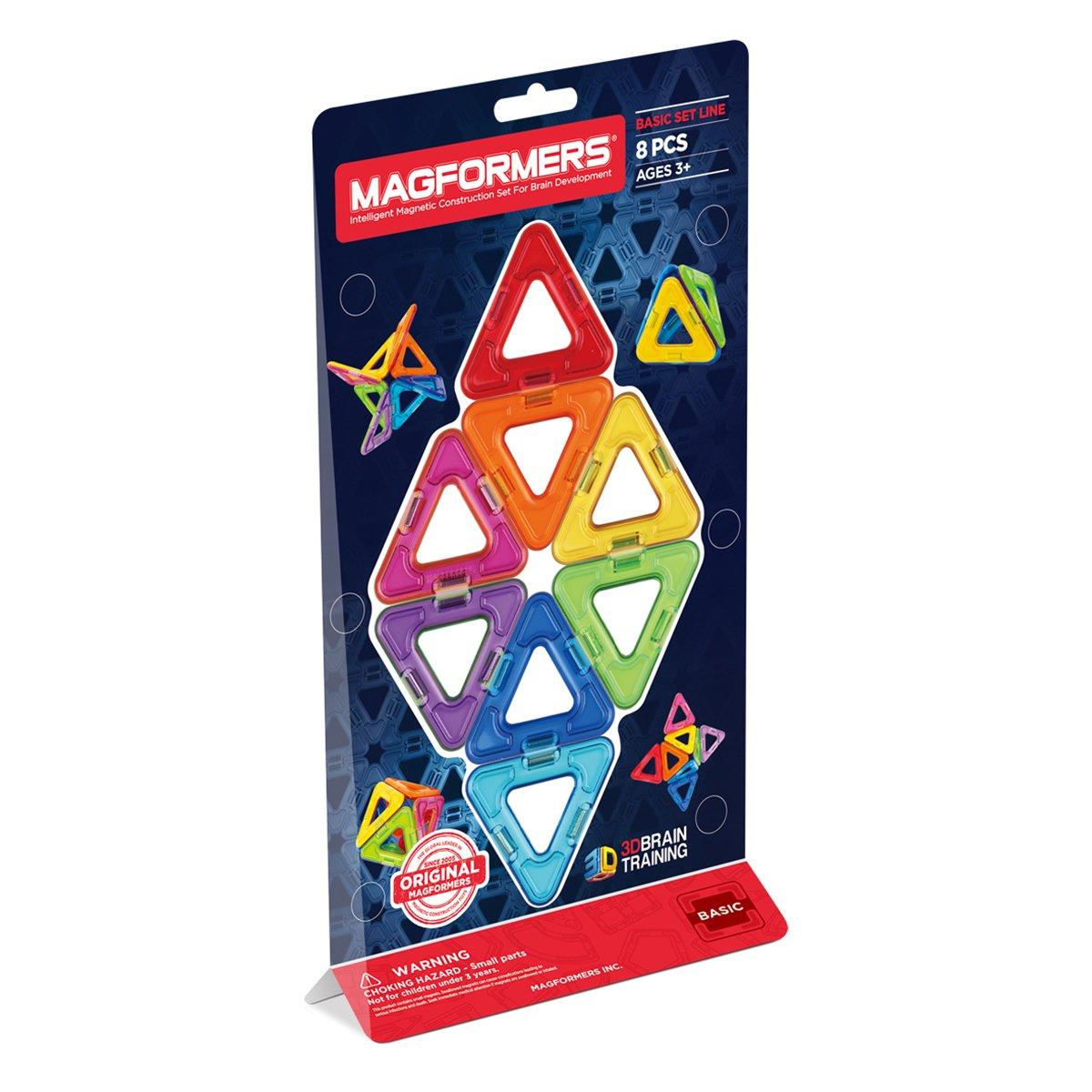 Magformers Triangles Set (8-Pieces) Magnetic    Building      Blocks, Educational  Magnetic    Tiles Kit , Magnetic    Construction  STEM Set