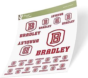 Bradley University BU Braves NCAA Sticker Vinyl Decal Laptop Water Bottle Car Scrapbook (Sheet Type 3-1)