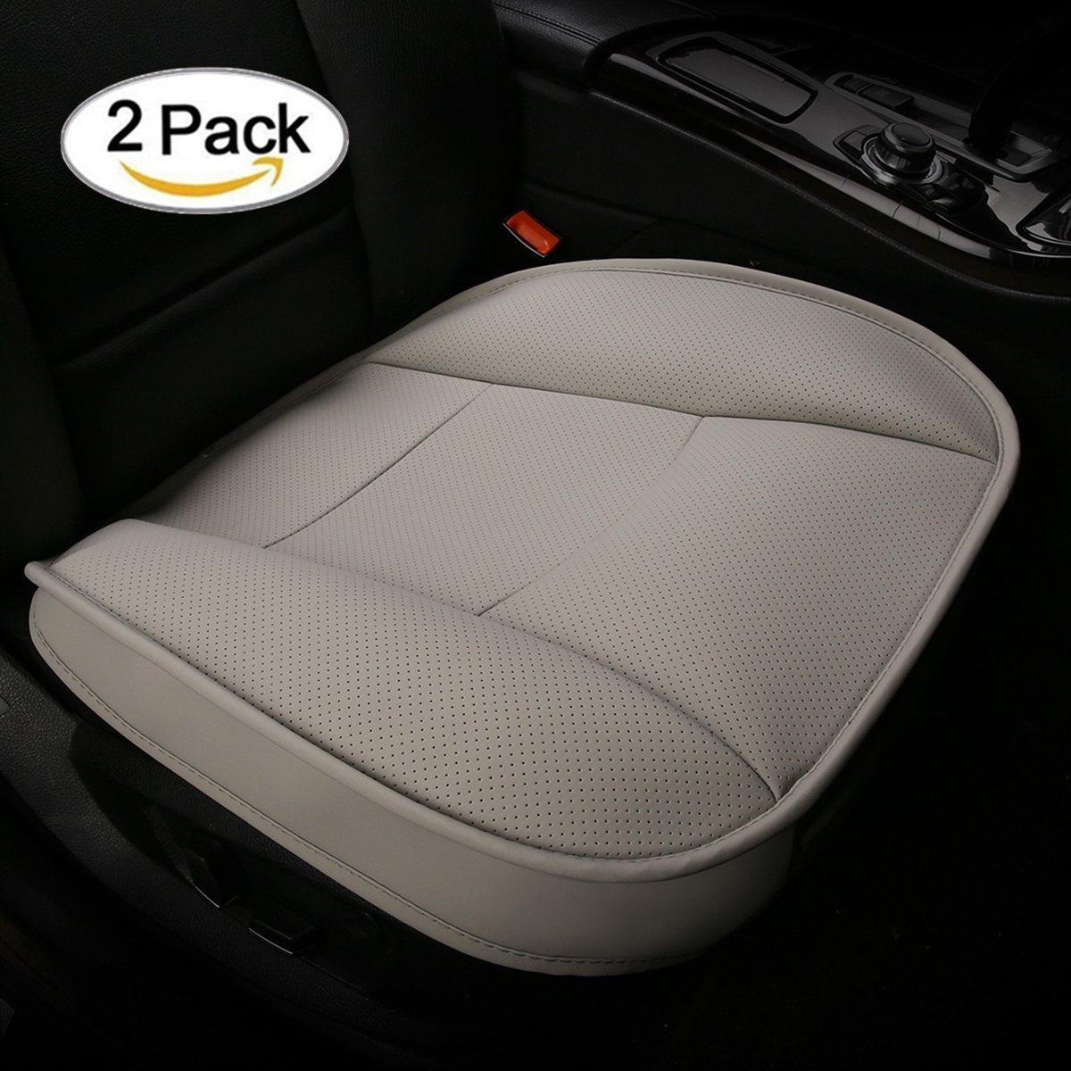 Coj/ín del asiento de coche x 20.5 W caf/&eacut CONMING Asiento de autom/óvil de carb/ón de le/ña Asiento de interior de autom/óvil Asiento de cuero de PU y cubierta de carb/ón de bamb/ú de la cubierta 19.7 L