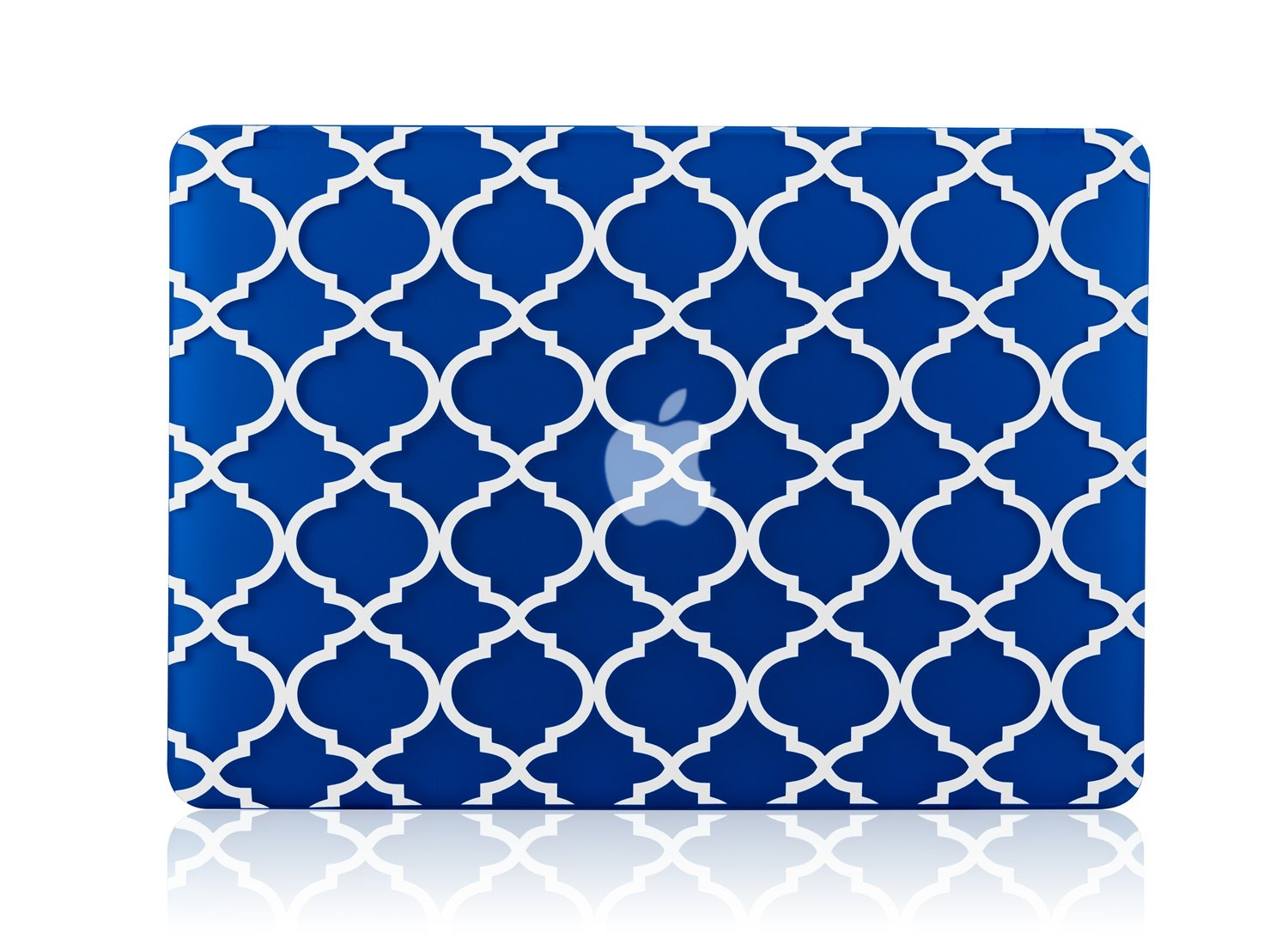 TopCase Quatrefoil/Moroccan Trellis Royal Blue Ultra Slim Light Weight Rubberized Hard Case Cover for Apple MacBook Pro 13.3'' with Retina Display Model: A1425 and A1502 (Newest Version 2013)