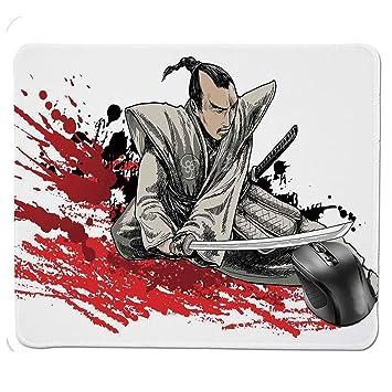 HFYSB Non-Slip Rubber Base Mousepad,Warrior Holding a Katana ...