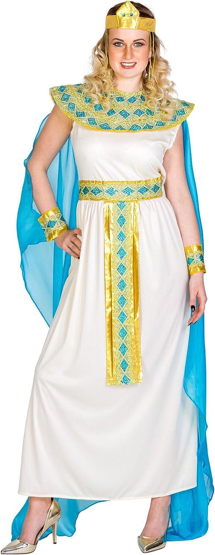 TecTake dressforfun Disfraz de Cleopatra para Mujer Reina Diosa | Vestido con Cinta de Pelo Muy Extravagante, Adorno de Cabeza Egipcio & Adorno para la muñeca (XXL | no. 300389)
