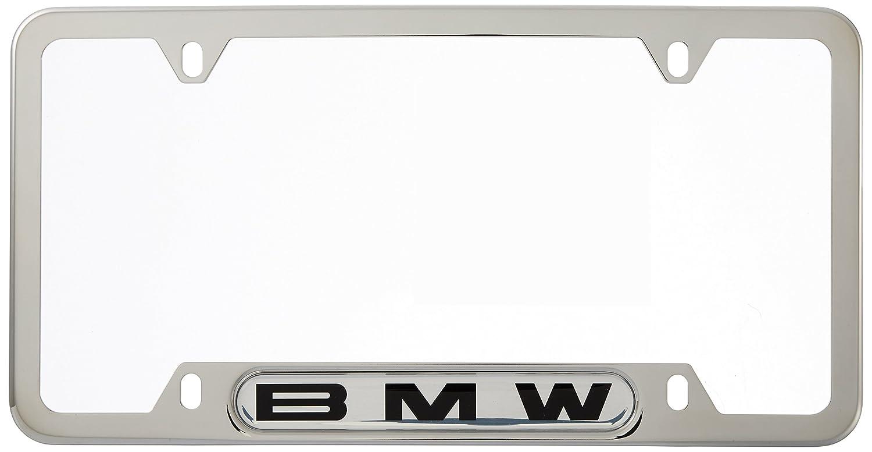 Amazon.com: BMW License Plate Frame w/BMW Logo POLISHED stainless ...