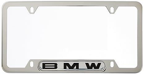 BMW License Plate Frame w/BMW Logo POLISHED stainless steel  sc 1 st  Amazon.com & Amazon.com: BMW License Plate Frame w/BMW Logo POLISHED stainless ...