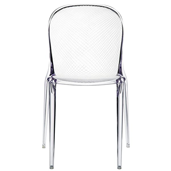 Modway Scape Dining Side Chair in Clear