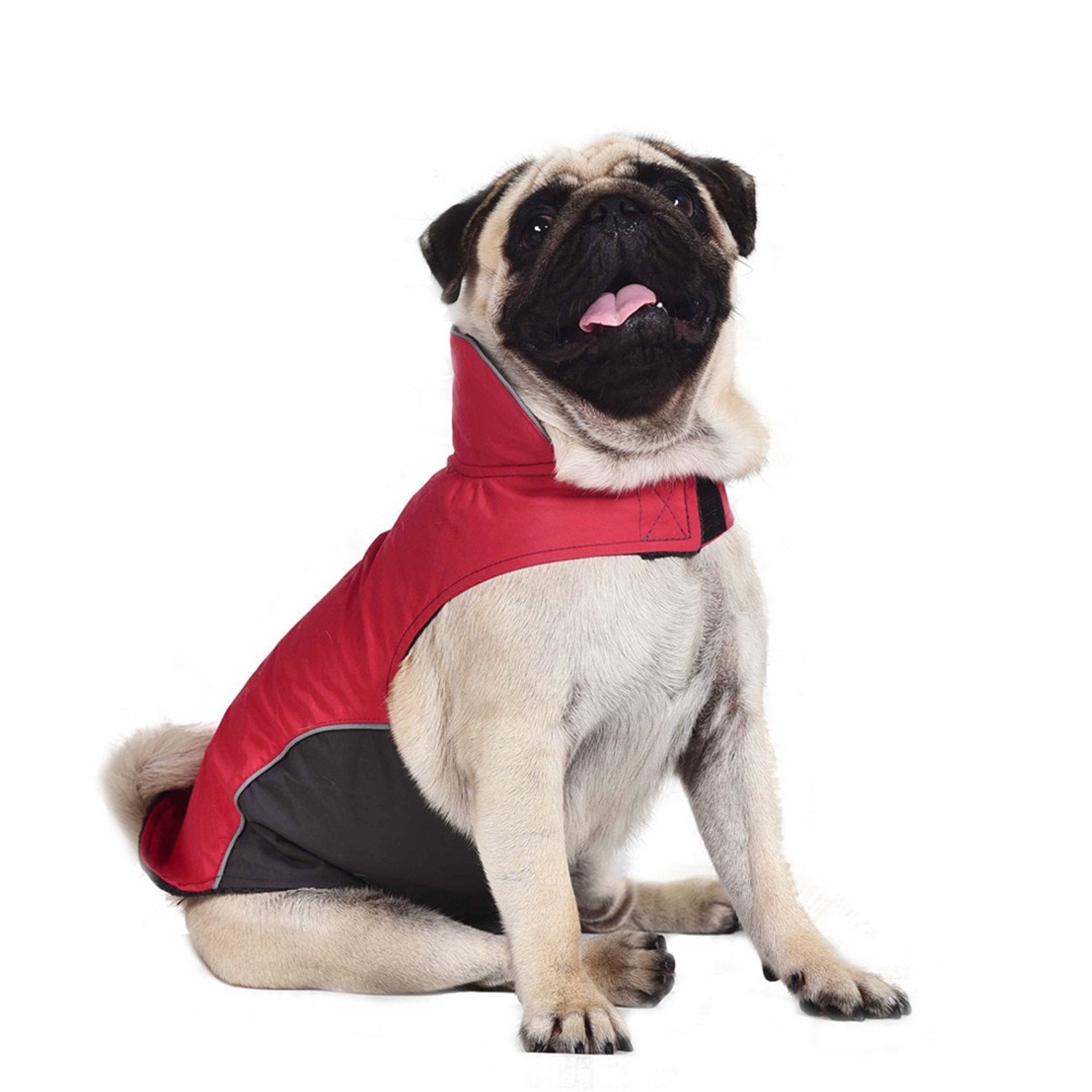 Red 4XL red 4XL HuoGuo Large Dog Clothes Waterproof Winter Dog Raincoat Outdoor Jacket Pet Coat for Pugs Husky Pitbull Fleece Lining S-5XL red 4XL