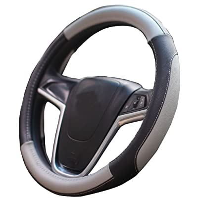 Mayco Bell Car Steering Wheel Cover 15 inch Comfort Durability Safety (Gray): Automotive