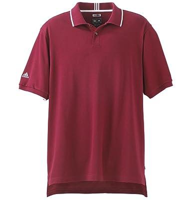 adidas Climalite Entretejido Polo Golf Camiseta de A04, Escarlata ...