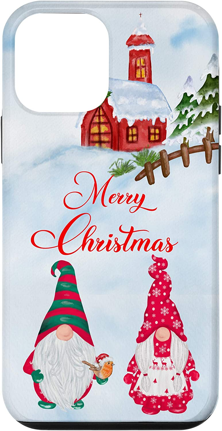 iPhone 12 mini Santa and Mrs Claus Garden Gnome North Pole Merry Christmas Case