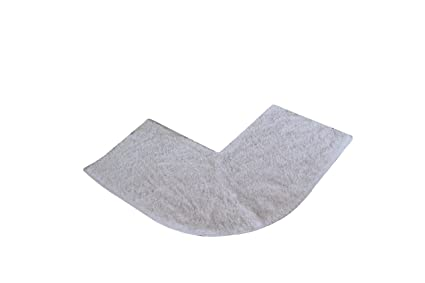 Luxury White Microfibre Non Slip Quadrant Corner Shower Mat