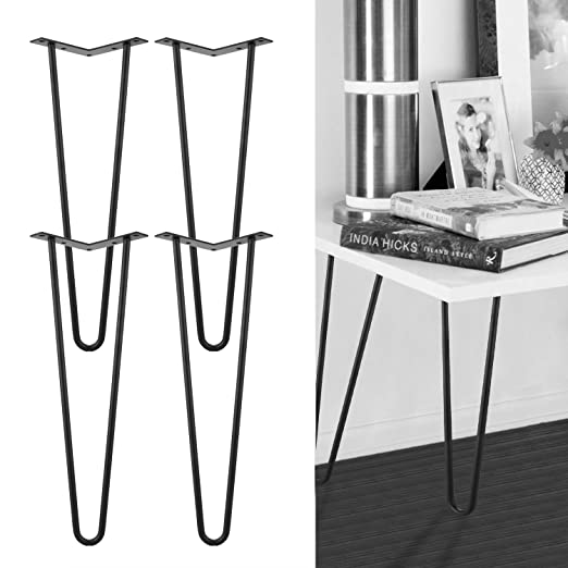 qulista DIY 4 x Hairpin Legs – Patas para mesa 2 Barra con ...