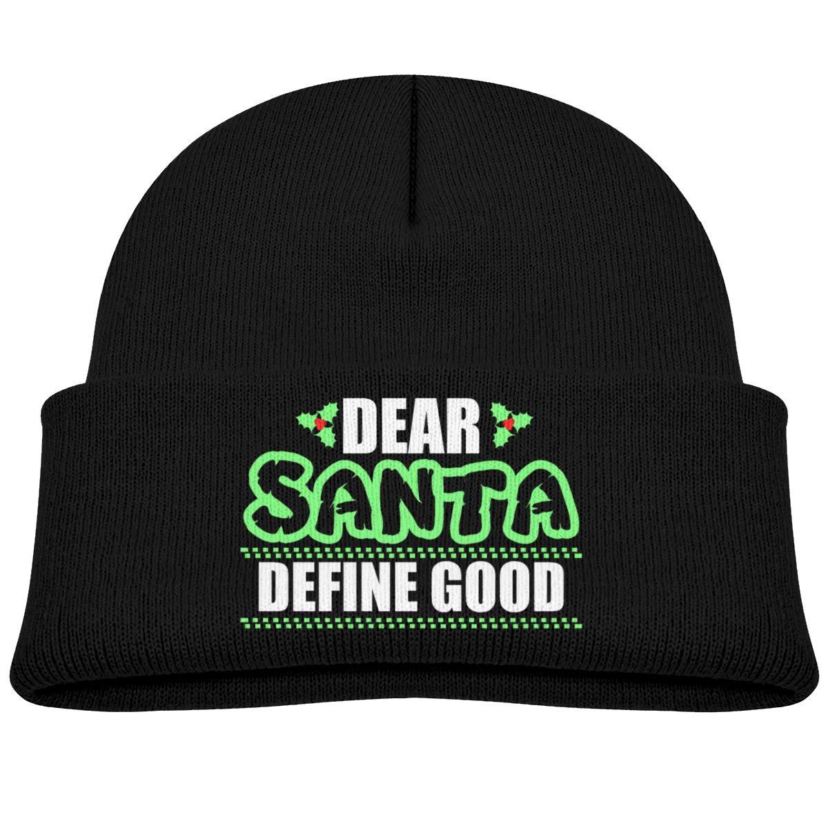 Hanfjj Kefdk Dear Santa Define Good Infant Skull Hats Baby Boys Beanie Caps