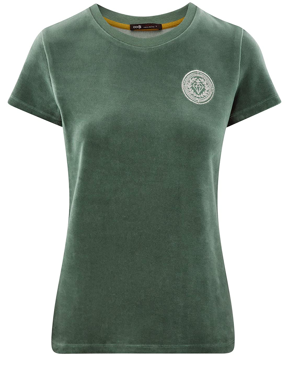 oodji Ultra Mujer Camiseta de Felpa con Decoraci/ón