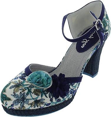 Ruby Shoo Flo Damen Schuhe Blau n4y6VNaumY