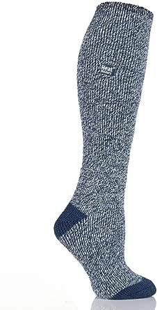 Heat Holders Women's Warm Winter Thermal Long Socks, Navy Twist, UK 4-8