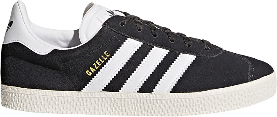 Adidas Gazelle Chaussures Femme Noir, Bleu, Rose. Sneaker. Low-Top. Baskets  Mode. (38 2/3 EU, Dark Grey Heather/Footwear White)