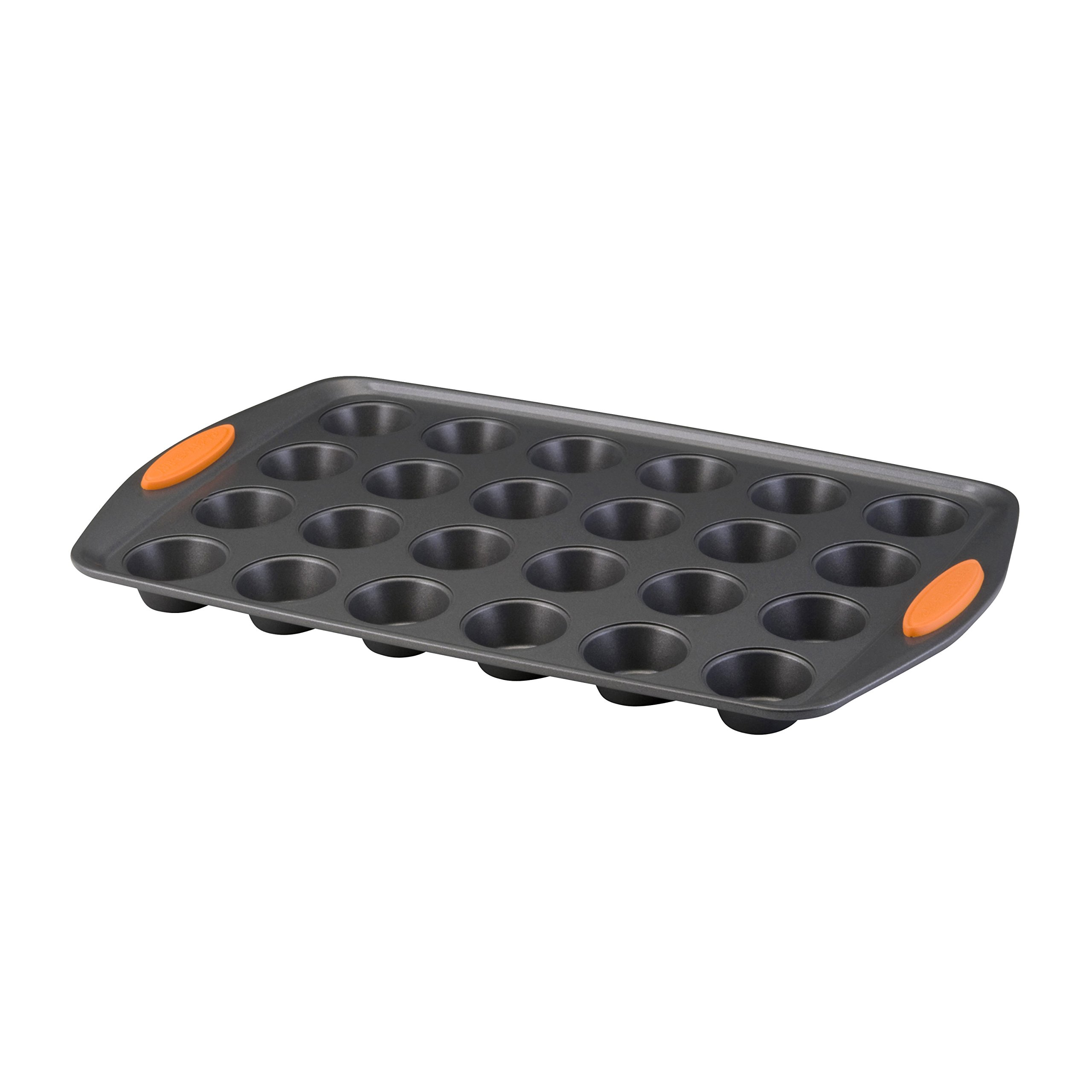 Rachael Ray Oven Lovin' Non-Stick 24-Cup Mini Muffin Pan, Orange by Rachael Ray