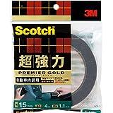 3M スコッチ 超強力両面テープ プレミアゴールド 自動車内装用 15mm×4m SCR-15