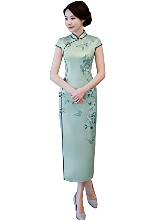 55081e965860d Amazon.com: Shanghai Story Women's Chinese Dress Sexy Qipao Dress ...