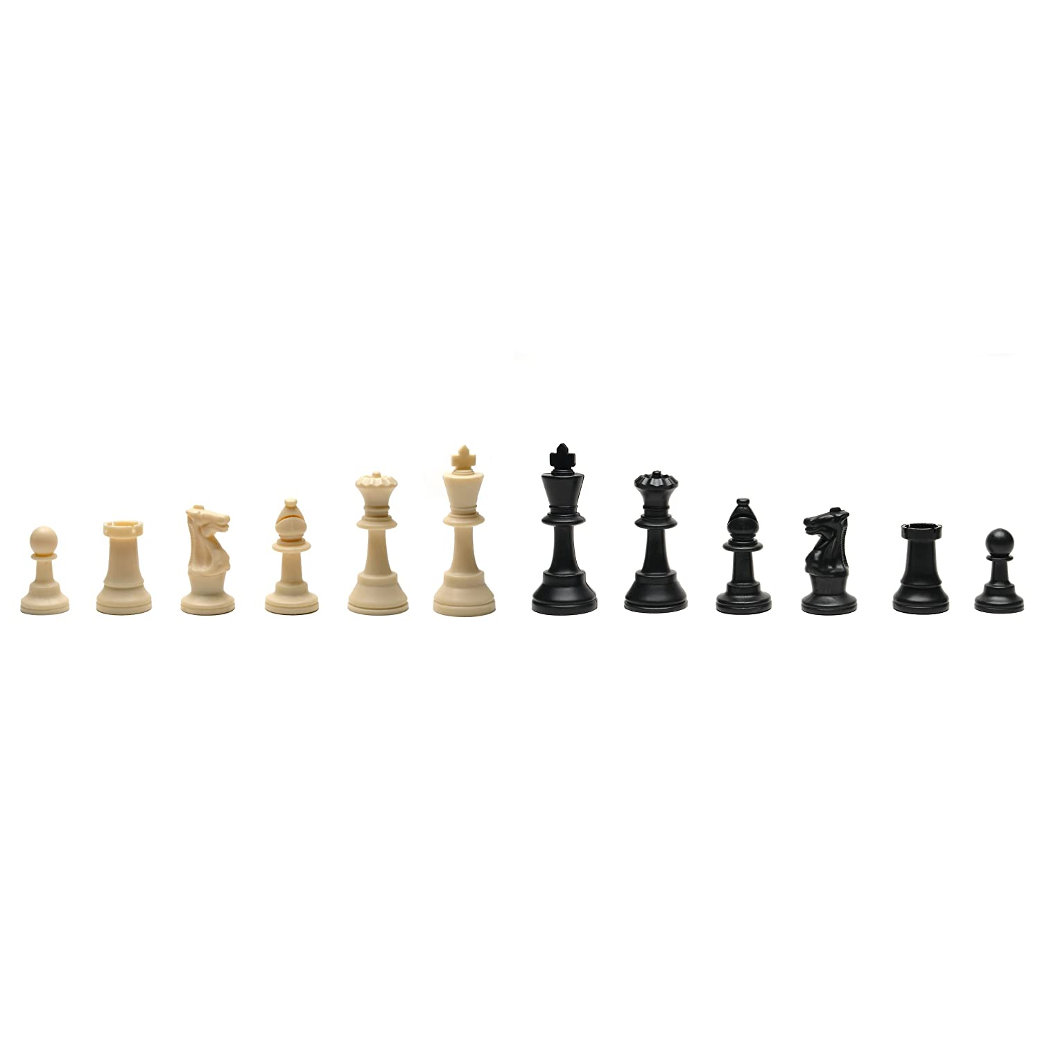 Amazon.com: Best Value Tournament Chess Set   Filled Chess Pieces And Black  Roll Up Vinyl Chess Board: Toys U0026 Games