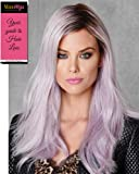 """Lilac Frost Wig Color Lilac Frost - Hairdo Wigs 18"""" Long Waves Tru2Life Heat Friendly Synthetic Purple Colored Shade Straight Curly Wavy Bundle with MaxWigs Hairloss Booklet"""