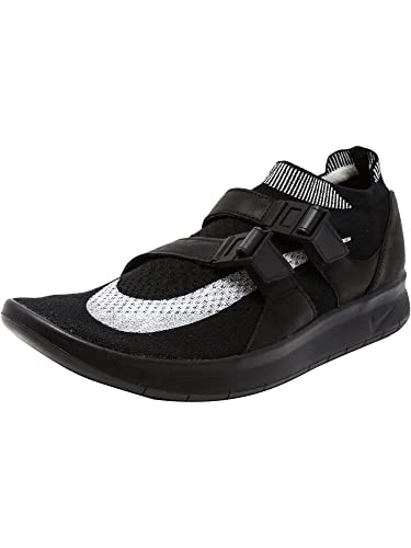 5eda95ea2480 Nike Men s Lab Air Sockracer Flyknit Running Shoes Black Sail-Black Size  9.5 D