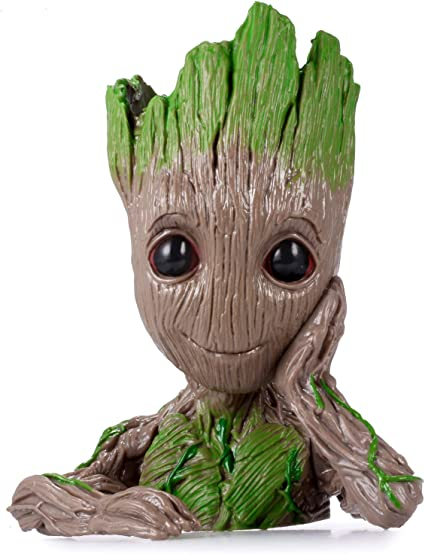 New Galaxy Baby Groot Tree Man Figure Flowerpot Guardians Penpot Kids Gift ov