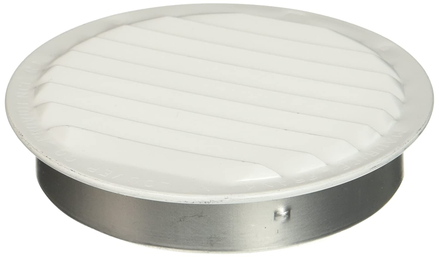 Maurice Franklin Louver RLW 100 4 4 Inch Mini Round Aluminum Insect Proof Mini Louvers With Screen White Pack of 4