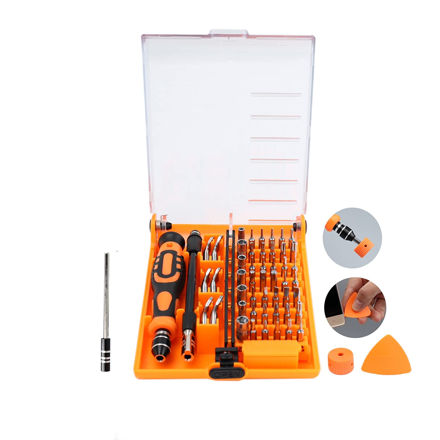 Ceatech Magnetic Precision Screwdriver Repair Set + Magnetizer + Opener - Cellphone,Computer, Drone, Laptop, Glasses Hardware Tool Kit - Craftsmen, Electricians,Homeowners, Jewelers CAYEDA DIRECT