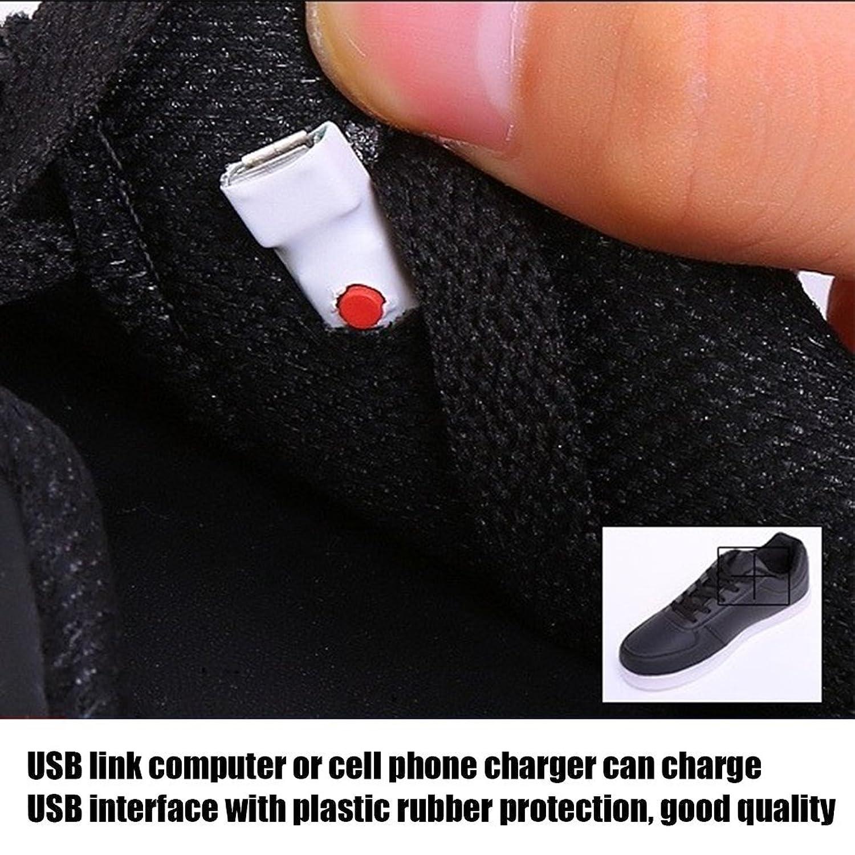 Scarpe LED per Bambini con Ricarica USB con Illuminazione per Bambini Scarpe Casual Belle per ardere (Colore: Nero) KUm2hv6Z