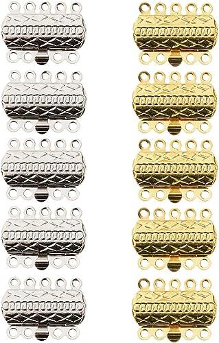 Schmuck Halskette Armband Stecker Zubeh/ör DIY 5 St/ücke Silber Farbe Magnetische Schmuckverschl/üsse