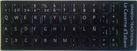 Pegatinas teclado Spañol - Cualidad Superior: Amazon.es: Electrónica