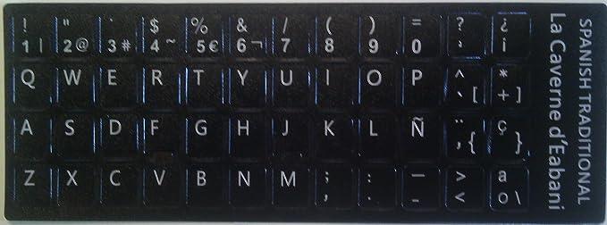Pegatinas teclado Spañol - Cualidad Superior: Amazon.es ...