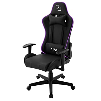 AIM silla gaming profesional, iluminación DNA RGB, reclinable 180º: Amazon.es: Hogar