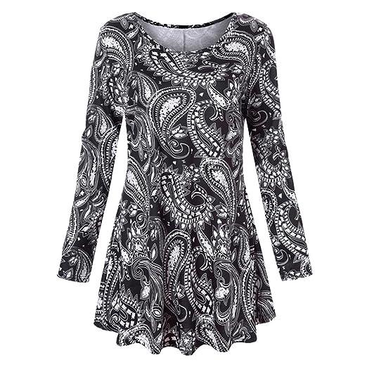 9539c2b6029 MEEYA Hot Sale! Mini Dress 2018 New Womens Long Sleeve O-Neck Floral ...