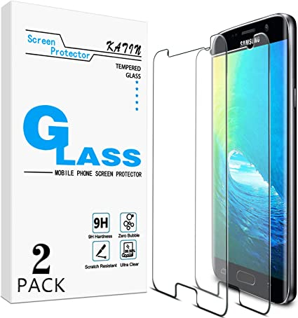 Amazon Com 2 Pack Katin For Samsung Galaxy S7 Tempered Glass Screen Protector No Bubble 9h Hardness Easy To Install